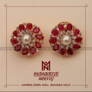 Earrings from Ruby Jewellery Collection by MangatraiNeeraj