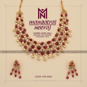 Rubies Necklace from Ruby Jewellery Collection by MangatraiNeeraj